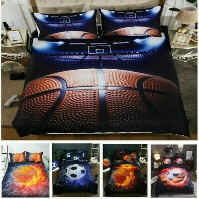 AU37.64 • Buy 3D Bedding Set Basketball Quilt Doona Duvet Cover Single Double Queen King Size