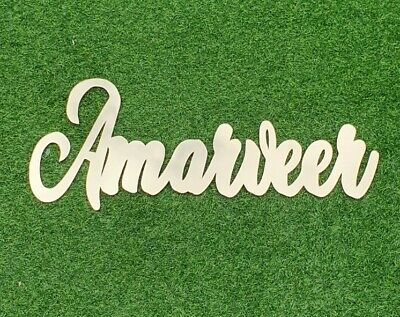 Personalised Wooden / Acrylic Name Plaque Words/Logos Wall/Door Art/craft/Sign • 6.50£