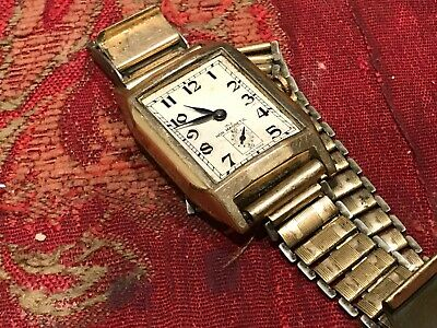 Mans 1920's Art Deco Wrist Watch And Bracelet • 75£