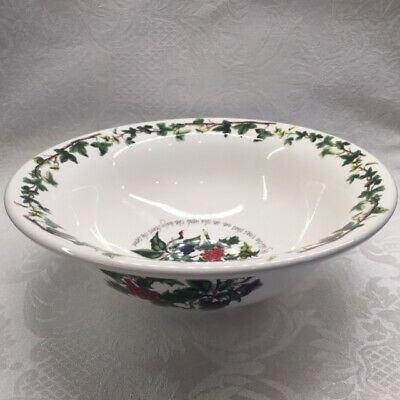 Portmeirion THE HOLLY AND THE IVY  -   8  Deep Individual Pasta Bowls • 19$