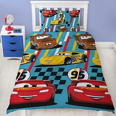 Disney Cars Dinoco Single Duvet Cover Set 2-in-1 Design Polyester Kids Bedding • 14.70£