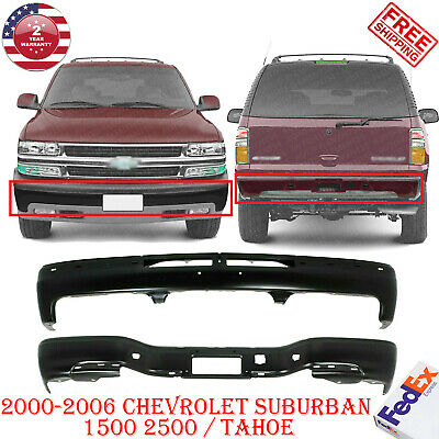 $309.85 • Buy Front And Rear Bumper Black For 2000-2006 Chevrolet Suburban 1500 2500 / Tahoe