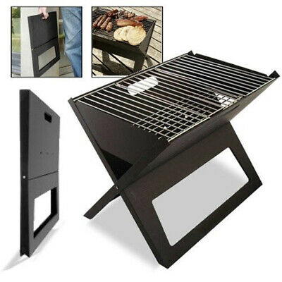 AU29.95 • Buy Outdoor Picnic Camping Bbq Portable Foldable Notebook Size Folding Charcoal Bbq