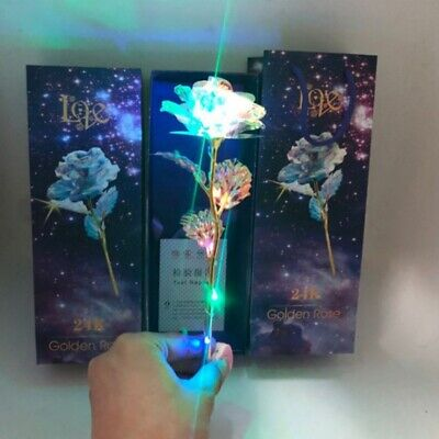 Galaxy 24K Gold Foil Rose Flower Forever Romantic Valentine's Day Birthaday Gift • 9.59£