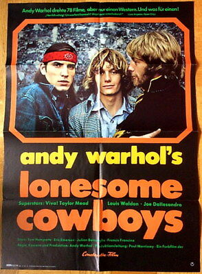 $79.99 • Buy German Movie Poster: LONESOME COWBOYS (1972) Joe Dallesandro Andy Warhol