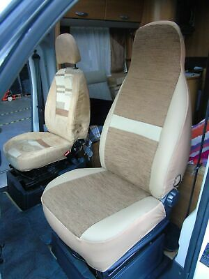 To Fit A Fiat Ducato 2000 Motorhome,pair Of Seat Covers, Penelope Mh-493 • 79.99£
