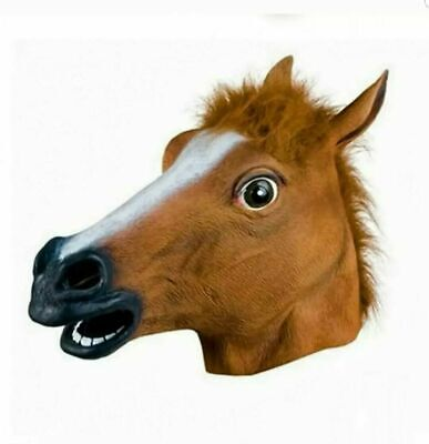 £9.99 • Buy RUBBER HORSE HEAD MASK FANCY DRESS PARTY LATEX HALLOWEEN ADULT Cosplay UK