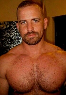 $ CDN4 • Buy Shirtless Male Beefcake Hairy Chest Hunk Beard Jock Dude PHOTO 4X6 D655