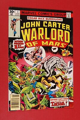 John Carter Warlord Of Mars #1 June 1977 Marvel Comics Gil Kane Dave Cockrum • 3.50$