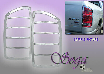 $30.99 • Buy For 2002-2008 Dodge Ram 1500 2500 3500 Chrome Tail Lights Covers Trim Pair Fast!