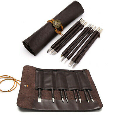£15.99 • Buy 8pcs Tungsten Steel Stone Carving Sculpting Kit Carbide Hand Chisel Tool + A Bag