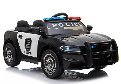 12V Electric Kid Ride On Police Car 2.4G RC Siren Opening Side Door Twin Motor • 114.99£