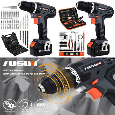 View Details 20V Electric Drill Cordless Power Drill / Driver With 49pcs Bits Set & A Bag • 44.99$