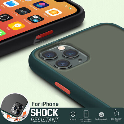 AU8.99 • Buy IPhone 11 Pro Max XS XR X Shockproof Slim Matte Bumper Case Cover Hard For Apple