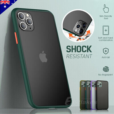 AU11.99 • Buy IPhone 11 Pro Max XS XR X Shockproof Slim Matte Bumper Case Cover Hard For Apple
