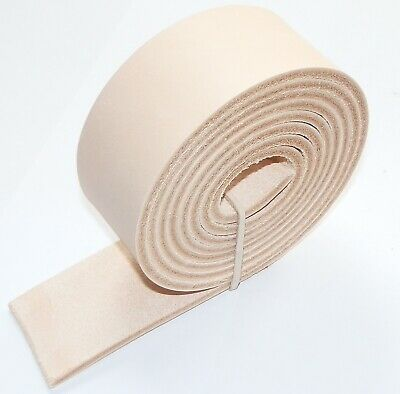£10.49 • Buy 3.5MM THICK NATURAL BUFF VEG TAN LEATHER BELT STRAPS  BLANKS 137m - 54  INCH