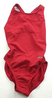 $16.99 • Buy Dolfin Ocean Womens Size 28 Red One Piece Swimsuit NEW