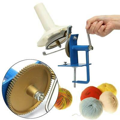 Large Metal Winder Machine Hand Needlecraft Yarn Fiber Wool String Ball Knitting • 23.61£