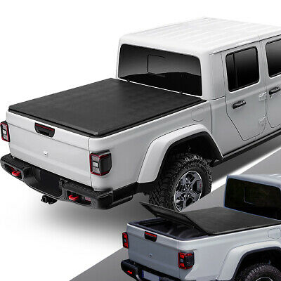 For 2020 Jeep Gladiator JT Pickup Truck Bed Soft Folding Tri-Fold Tonneau Cover • 212.88$