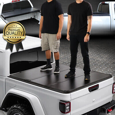 $398.88 • Buy For 20-21 Jeep Gladiator Jt Pickup Truck Bed Hard Solid Tri-fold Tonneau Cover