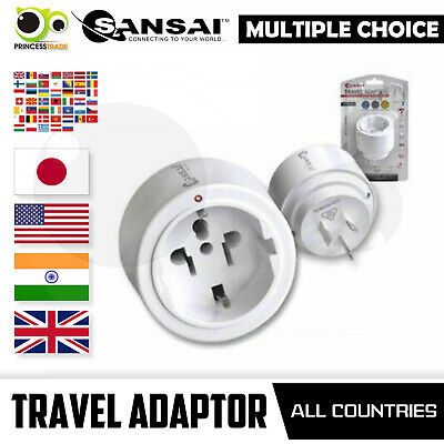 AU14.90 • Buy Sansai International Travel Adaptor Multiple Choice Australia Europe Japan US UK