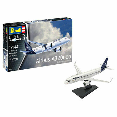 REVELL Airbus A320neo Lufthansa  New Livery  1:144 Aircraft Kit 03942 • 17.95£