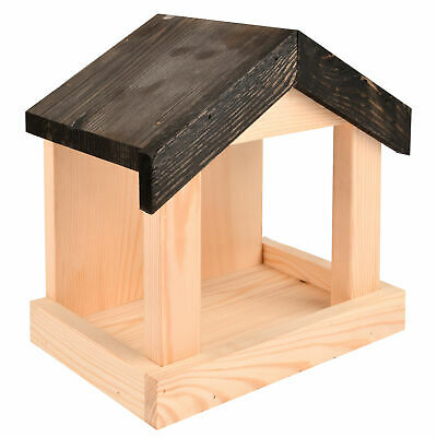 £17.84 • Buy Wall Mounted Wooden Wood Bird Feeding Feeder Table W Apex Roof