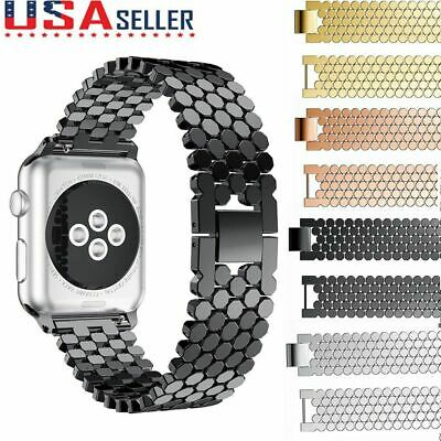 $ CDN14.61 • Buy For Apple Watch Bands 42mm 38mm Stainless Steel IWatch Bands Series 5 4 3 2 1 US