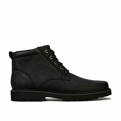 Mens Rockport Main Route Plain Toe Boots In Black- Lace Fastening- Padded Collar • 43.94£