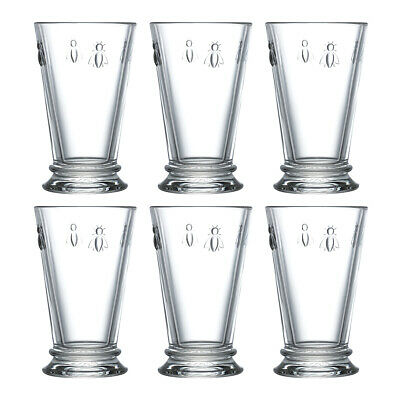 La Rochere Set Of 6 Bee Long Drink Glasses, 31cl Water Drinking Cocktails Drinks • 35.95£