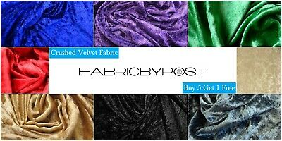 Crushed Velvet Fabric Soft Stretch Material Craft Upholstery Drape Bedding • 4.50£