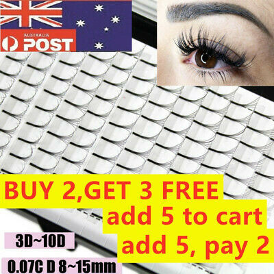 AU9.64 • Buy Permanent 0.07 Thickness Premade Volume Fans False Eyelashes Eyelash Extension