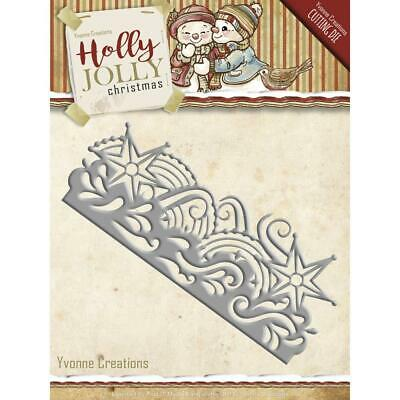 £7.99 • Buy Holly Jolly Snowflake Border - Yvonne Creations -  Find It Trading  Cutting Dies