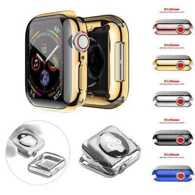 $ CDN5.51 • Buy For Apple Watch Series 5 4 3 2 Full Body Soft Case Cover Screen Protector 38-44