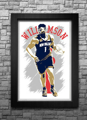 $10.29 • Buy ZION WILLIAMSON Art Print/poster NEW ORLEANS PELICANS FREE S&H! JERSEY