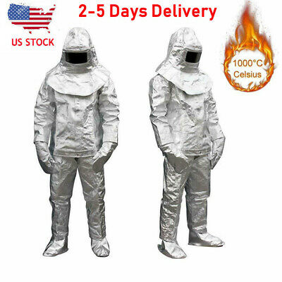 Men's Aluminized 1000°C Heat Insulation Suit Thermal Radiation Protect Work Wear • 119.88$