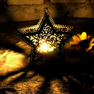 Metal Moroccan Lantern Candlestick Candle Holder Tea Light DIY Party Decor US • 6.08$