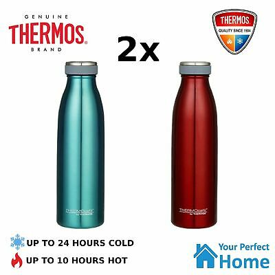 AU44.95 • Buy 2x Thermos THERMOcafe 500ml Stainless Steel Vacuum Insulated Drink Bottle
