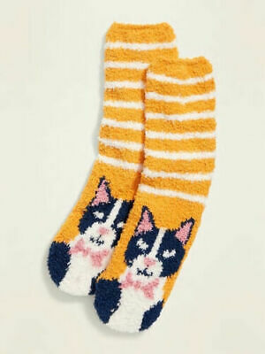 $5.99 • Buy Cats Kittens Cozy Socks - Old Navy Women's - Soft Fluffy Fuzzy New  Cat Kitten