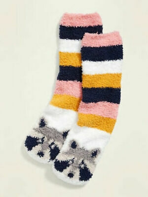 $5.99 • Buy Raccoon Cozy Socks - Old Navy Women's - Fluffy Fuzzy New  Racoon