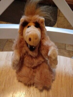 """Alf 1988 Plush Doll Finger Puppet 8"""" In Good Condition 80's TV Hard To Find • 25$"""