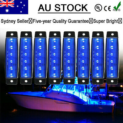 AU17.95 • Buy 8X Marine Boat Bow Navigation Light 3.8  6 LED Yacht Deck Spreader Lamp Blue AU