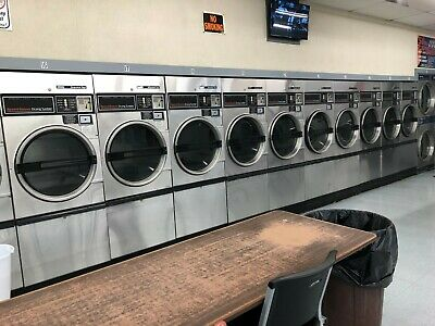 $900 • Buy 14 Stainless Steel Speed Queen Single Pocket Commercial Dryers