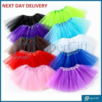 Ladies Glitter Tutu Skirt Dance Party Hen Ballet Tulle Tutu Skirt Fancy Dress • 3.95£
