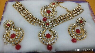 Indian Bollywood Bridal Traditional Necklace Wedding Set Fashion Party Jewelry • 12.99$