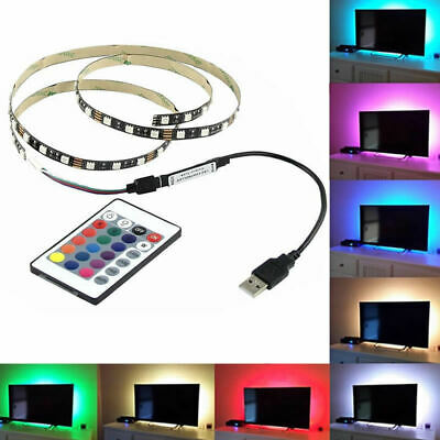 $5.98 • Buy USA PC TV Backlight USB 5050 LED Strip RGB TV Light Bias Lighting Flexible Lamp