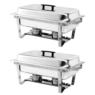 £111.54 • Buy Set Of 1/2/4 Buffet Stoves Stainless Steel Chafing Dishes Party Food Warming Pan