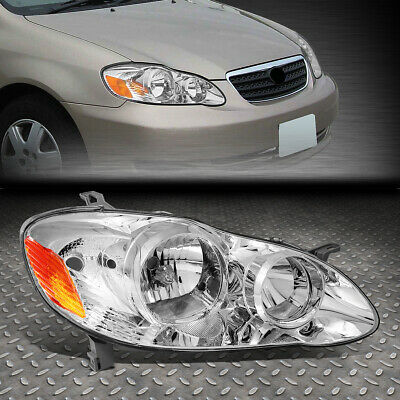 $58.99 • Buy For 03-08 Toyota Corolla Chrome Housing Oe Style Headlight Lamp Right To2503160