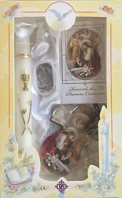 New First Holy Communion Candle Box Gift Set For Boys Spanish Missal Rosary  • 19.29£