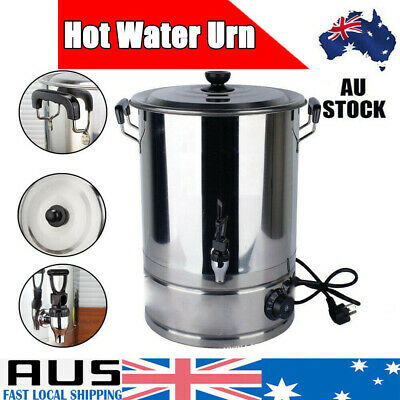 AU125.99 • Buy 48L 58L Hot Water Stainless Steel Urn With Concealed Element Tea Kettle Boiler